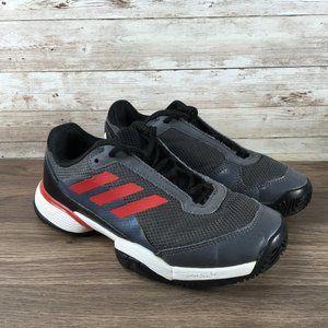 Adidas Barricade Club Junior Boys Size 2.5Y Black